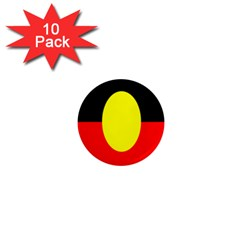 Flag Of Australian Aborigines 1  Mini Magnet (10 Pack)