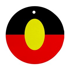 Flag Of Australian Aborigines Round Ornament (two Sides)