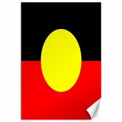 Flag Of Australian Aborigines Canvas 12  X 18