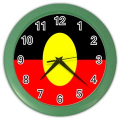 Flag Of Australian Aborigines Color Wall Clocks by Nexatart
