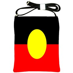 Flag Of Australian Aborigines Shoulder Sling Bags by Nexatart