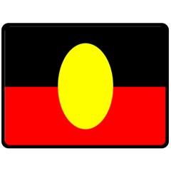 Flag Of Australian Aborigines Fleece Blanket (large)