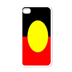Flag Of Australian Aborigines Apple Iphone 4 Case (white)