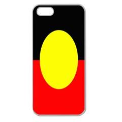 Flag Of Australian Aborigines Apple Seamless Iphone 5 Case (clear) by Nexatart