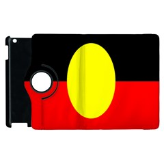 Flag Of Australian Aborigines Apple Ipad 2 Flip 360 Case by Nexatart