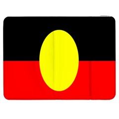 Flag Of Australian Aborigines Samsung Galaxy Tab 7  P1000 Flip Case by Nexatart