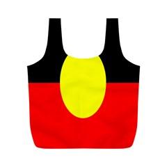 Flag Of Australian Aborigines Full Print Recycle Bags (m)