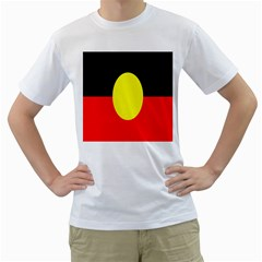 Flag Of Australian Aborigines Men s T Shirt (white)