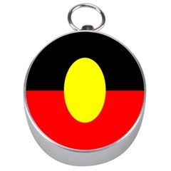 Flag Of Australian Aborigines Silver Compasses