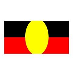 Flag Of Australian Aborigines Satin Wrap by Nexatart