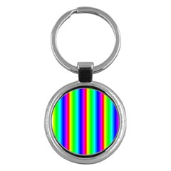 Rainbow Gradient Key Chains (round)