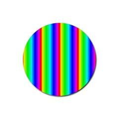 Rainbow Gradient Rubber Coaster (round)