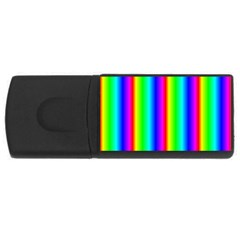 Rainbow Gradient Usb Flash Drive Rectangular (4 Gb)