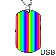 Rainbow Gradient Dog Tag Usb Flash (two Sides)