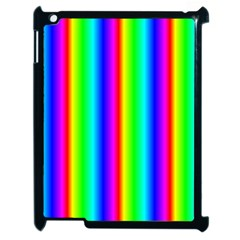 Rainbow Gradient Apple Ipad 2 Case (black) by Nexatart