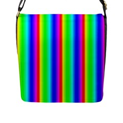 Rainbow Gradient Flap Messenger Bag (l)  by Nexatart
