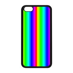 Rainbow Gradient Apple Iphone 5c Seamless Case (black) by Nexatart