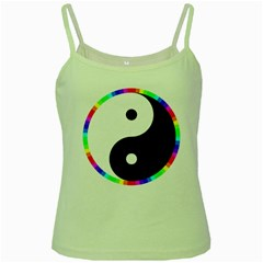 Rainbow Around Yinyang Green Spaghetti Tank