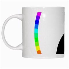 Rainbow Around Yinyang White Mugs