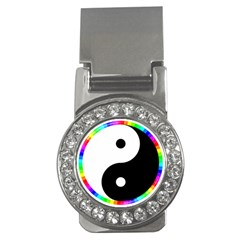 Rainbow Around Yinyang Money Clips (cz)