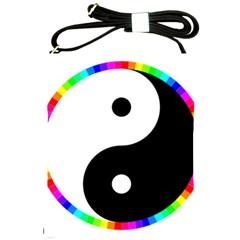Rainbow Around Yinyang Shoulder Sling Bags by Nexatart