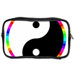 Rainbow Around Yinyang Toiletries Bags by Nexatart