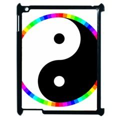Rainbow Around Yinyang Apple Ipad 2 Case (black) by Nexatart