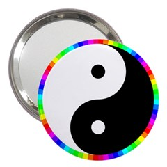 Rainbow Around Yinyang 3  Handbag Mirrors