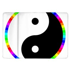 Rainbow Around Yinyang Samsung Galaxy Tab 10 1  P7500 Flip Case by Nexatart