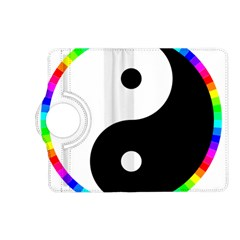 Rainbow Around Yinyang Kindle Fire Hd (2013) Flip 360 Case by Nexatart
