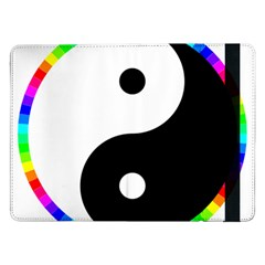Rainbow Around Yinyang Samsung Galaxy Tab Pro 12 2  Flip Case by Nexatart