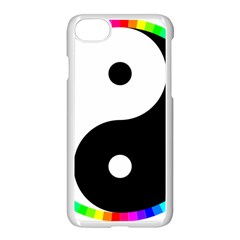 Rainbow Around Yinyang Apple Iphone 7 Seamless Case (white) by Nexatart