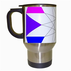 Rainbow Dodecagon And Black Dodecagram Travel Mugs (white) by Nexatart