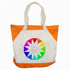 Rainbow Dodecagon And Black Dodecagram Accent Tote Bag by Nexatart