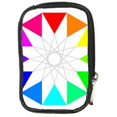 Rainbow Dodecagon And Black Dodecagram Compact Camera Cases