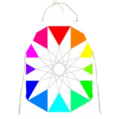 Rainbow Dodecagon And Black Dodecagram Full Print Aprons