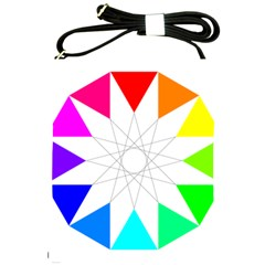 Rainbow Dodecagon And Black Dodecagram Shoulder Sling Bags by Nexatart