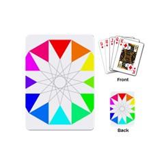 Rainbow Dodecagon And Black Dodecagram Playing Cards (mini)  by Nexatart
