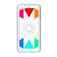 Rainbow Dodecagon And Black Dodecagram Apple Ipod Touch 5 Case (white)