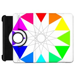 Rainbow Dodecagon And Black Dodecagram Kindle Fire Hd 7