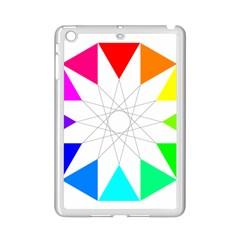 Rainbow Dodecagon And Black Dodecagram Ipad Mini 2 Enamel Coated Cases
