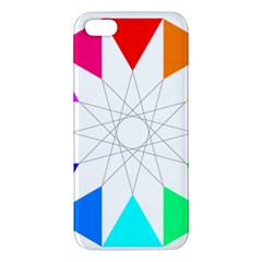 Rainbow Dodecagon And Black Dodecagram Apple Iphone 5 Premium Hardshell Case by Nexatart