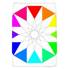 Rainbow Dodecagon And Black Dodecagram Flap Covers (l)