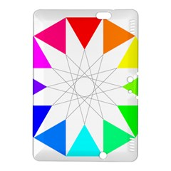 Rainbow Dodecagon And Black Dodecagram Kindle Fire Hdx 8 9  Hardshell Case by Nexatart