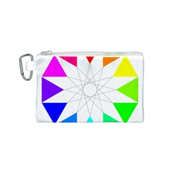 Rainbow Dodecagon And Black Dodecagram Canvas Cosmetic Bag (s) by Nexatart