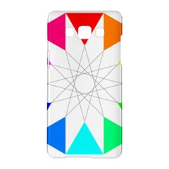 Rainbow Dodecagon And Black Dodecagram Samsung Galaxy A5 Hardshell Case  by Nexatart