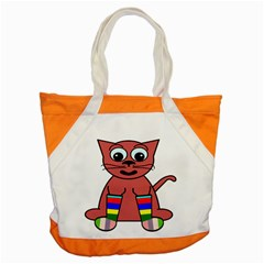 Cartoon Cat In Rainbow Socks Accent Tote Bag by Nexatart