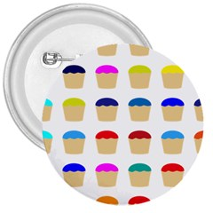 Colorful Cupcakes Pattern 3  Buttons