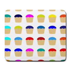 Colorful Cupcakes Pattern Large Mousepads by Nexatart
