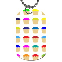 Colorful Cupcakes Pattern Dog Tag (two Sides)